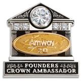 founders crown ambassador pin